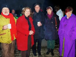 Feuerzauber mit Landratskandidatin Annette Gansmüller-Maluche