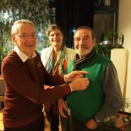Ehrung für Franz Manzenrieder mit Altbürgermeister Rudi Mailer und 2. Bgmin Mindy Konwitschny