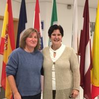 Gemeinderätin Priska Weber mit Maria Noichl in Brüssel